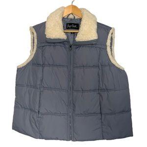 Grey puffer vest by Big Chill 2X EUC